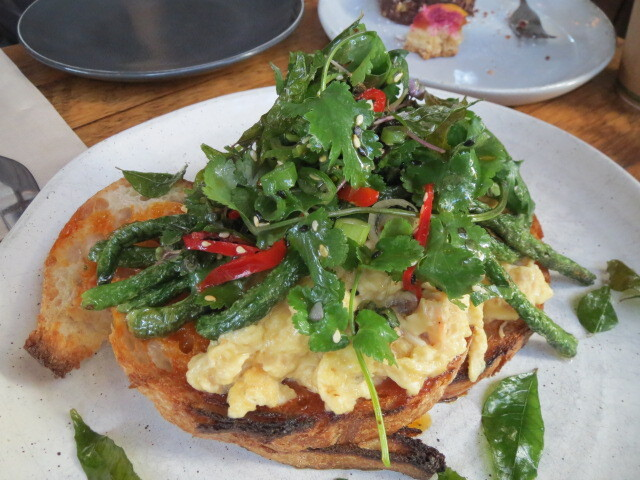 Karma and Crow, Blue Swimmer Crab Scrambled Eggs on Toast, Adelaide