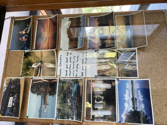 Visitors are welcomed to submit their own photographs for display in the Kinaba Visitor Information Centre