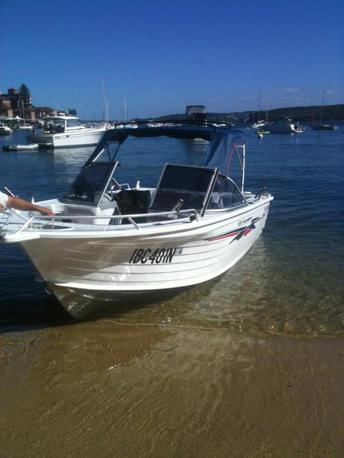 Manly Cove by boat