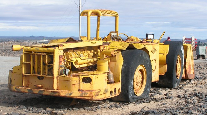 Mining machinery, Broken Hill, Mining