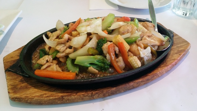 New Century Restaurant,Sizzling Chicken with XO Sauce, Adelaide