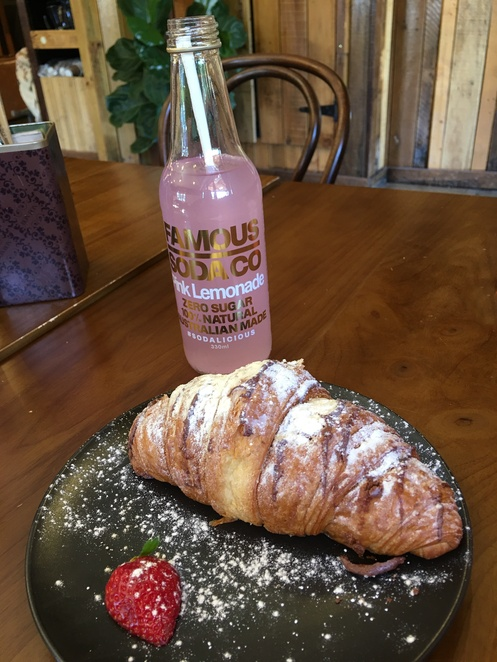 Nutella croissant, The Factory Cafe, Gosford