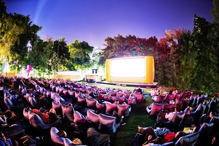 openair cinema, Brisbane, Southbank, movie, lounge