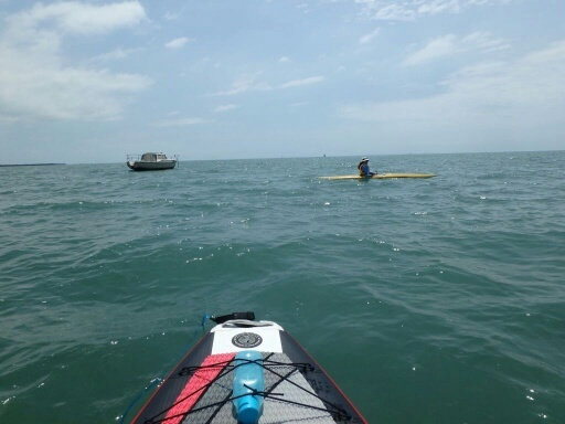 Paddling at Raby Bay