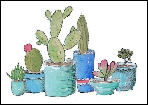 Painting,of,succulents