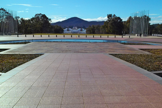 parliament house, canberra, ACT, things to see, forecourt mosaic, indigenous art,