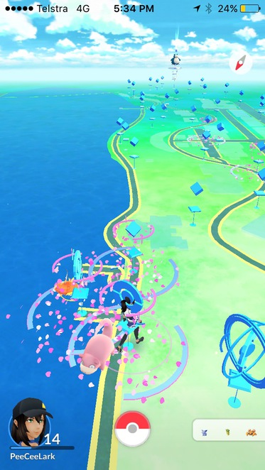 Pokemon Go at South Bank