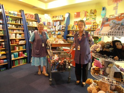 Two more of the lovely volunteers at the Friends Shop, Royal Perth Hospital