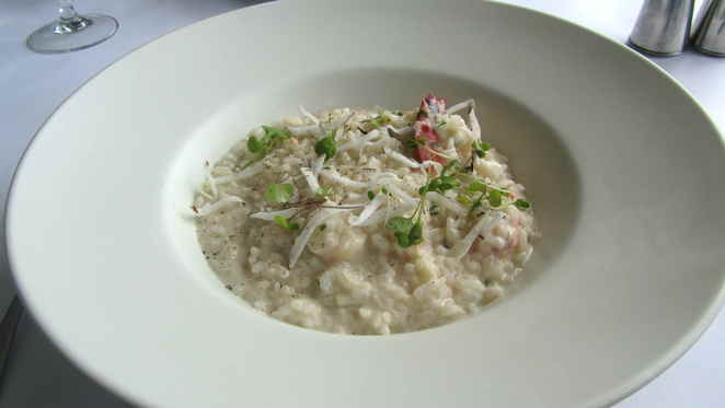 Scallop and banana prawn risotto
