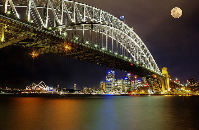 Supermoon over Sydney (Attribution: Flickr - Rex Boggs)