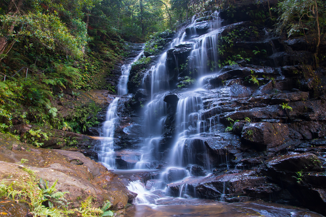 Sylvia Falls, Valley of the Waters, photography, Blue Mountains