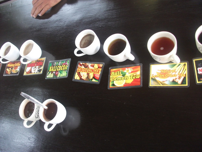 Tea, coffee and cocoa tasting
