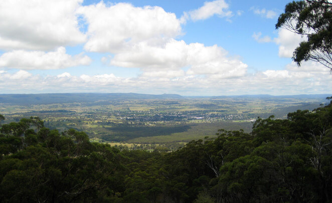 Tenterfield seen from Mt McKenzie Lookout