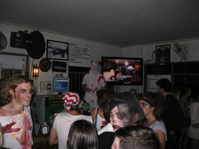 U.N. Irish Pub interior, Chiang Mai, zombies