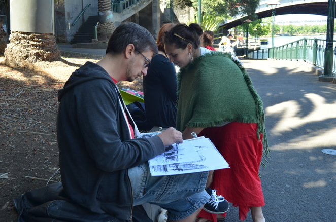 Yarra, Sketching, Secret Sketch Crawl, Art, Outdoor Sketching