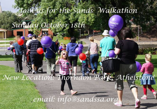 October is World Infant Loss month and Sands SA hosts an annual walkathon