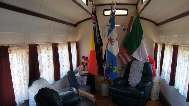 Inside the train carriage at Amiens Legacy Centre
