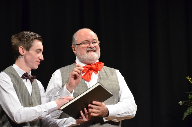 Andrew Hardiman and MC Ross Pearce. All Photos by Tricia Ziemer