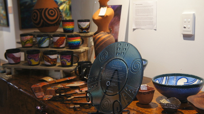 Souvenirs designed and made by indigenous artists