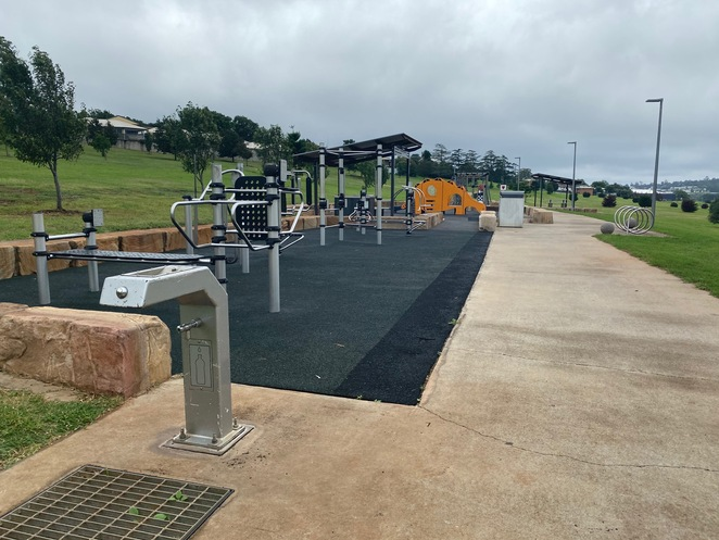 Playground and exercise facilities at Black Gully Park