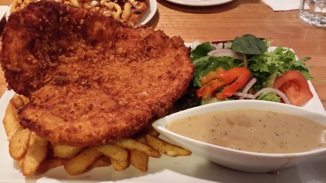 Cecconi's on O'Connell, Chicken Schnitzel, Adelaide