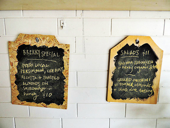 depot collective cafe, the depot, the joinery, conservation council sa, bus station, menu options, common ground, community garden, in adelaide, specials board