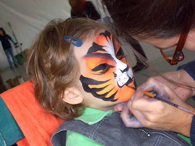 face paint, fun, children