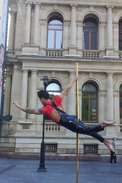 festival, Brisbane festival, arts, theatre, humour, fireworks, pole dancer, may cross