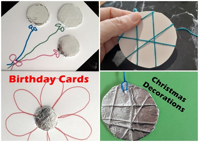 foil, craft, kids craft, aluminium foil, australia, crafts, easy, cheap, budget, family, indoor, rainy day, christmas decorations, coins, pretend play,