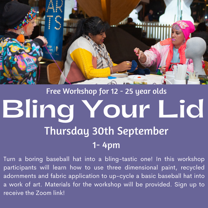 free wearable art workshop, city of stonnington art workshop, community event, fun things to do, fun for kids, kids wearable art workshop, luna & sarah, bling your lids