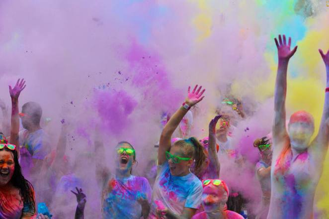 fun run, mud, colour, wellness, exercise, girls day out
