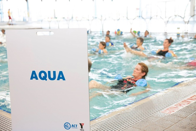 gungahlin leisure centre, aqua aerobics, ACT, exercise, swimming pool, indoor exercise ideas, winter,