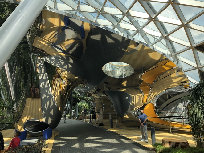 Jewel, slides, changi airport, playground, canopy park