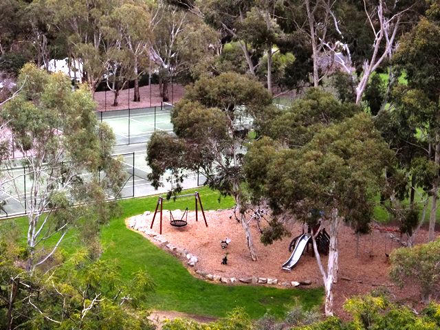 Langman Reserve Adelaide South Australia Burnside Waterfall Gully Park Reserve Playground Tennis Courts