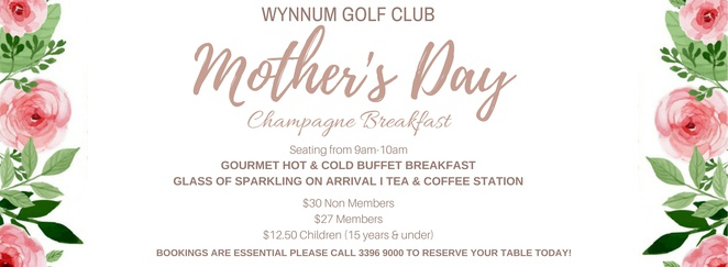 Mothers Day Wynnum Golf Club