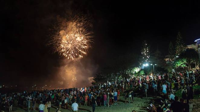 New Year's Eve Celebrations, free family activities, roving entertainment, face painting, food stalls, Thirsty Merc, Cheap Fakes, Hoo8Hoo, DJ's, fireworks, childrens' rides, sausage sizzle, popcorn, fairy floss, Mooloolaba, Caloundra, Coolum