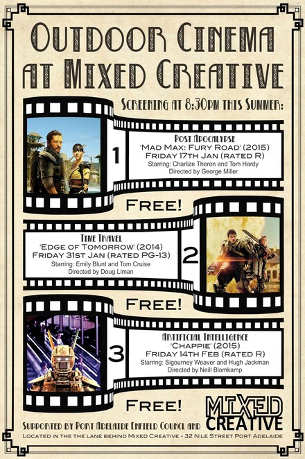 outdoor cinema 2020, chup chup ke, lion king, edge of tomorrow, mad max fury road, chappie, main hoon na, free community event, fun things to do, city of port adelaide enfield, stockade botanical park, community event, fun things to do, family fun, indian action drama film, foreign film, sub titled film, movie buffs, food trucks, picnic, live entertainment, chup cup ke, klemzig reserve, the lion king disney remake