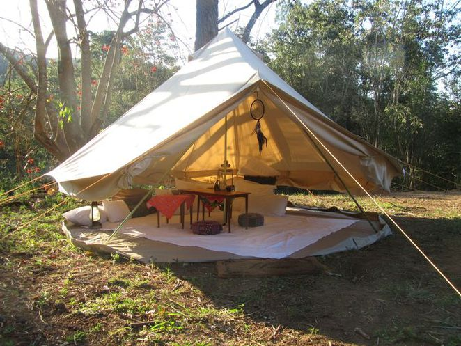 pop-up tents, glamping
