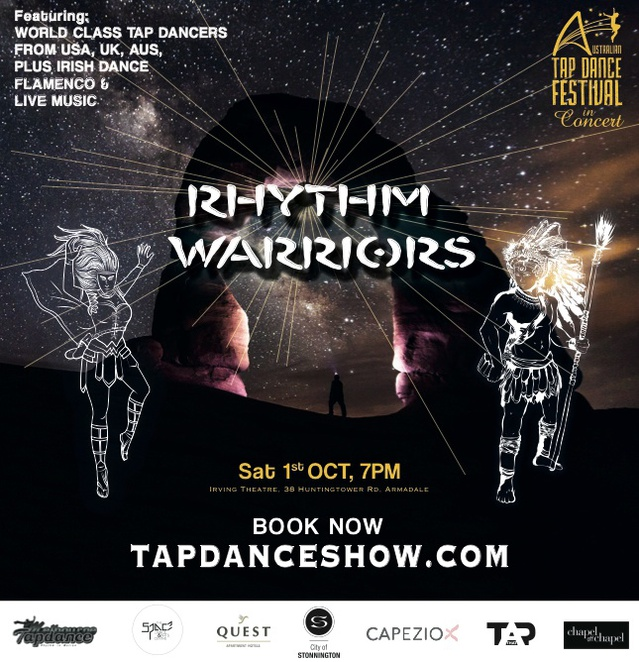 Tap Dancing Festival, Rhythm Warriors,Tap Dancing,Michelle Dorrance,Winston Morrison,Dance Workshops,Shim Sham,Tap Dance Classes,Irish Dance,Flamenco,Live Music,Melbourne Festivals,