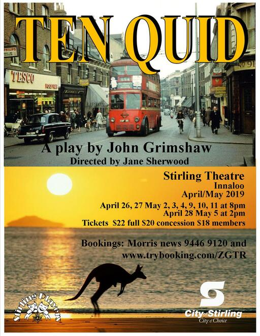 Ten Quid, Stirling Theatre, performing arts, stage, Manchester, drama, Stirling Players