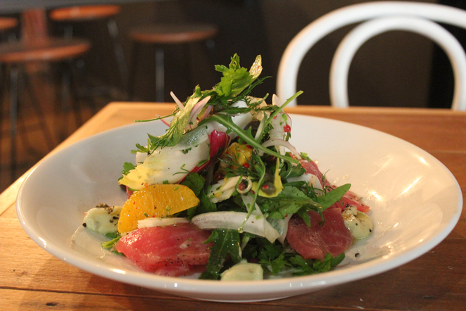 tuna crudo, peel street, laneways, adelaide, food in adelaide, seafood in adelaide