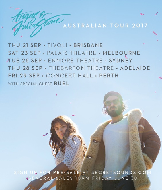 Angus and Julia Stone tour dates, Angus and Julia stone, concert, enmore theatre