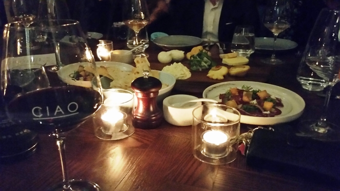 Antipastas of duck and fritti were the perfect start