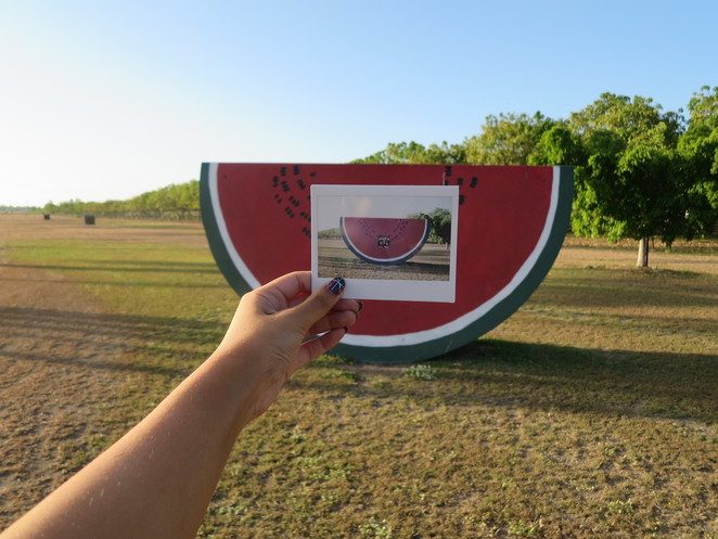 big things, australia, road trip, attraction, tourist, queensland, brisbane, cairns, gumlu, farm, fruit, big watermelon, watermelon slice