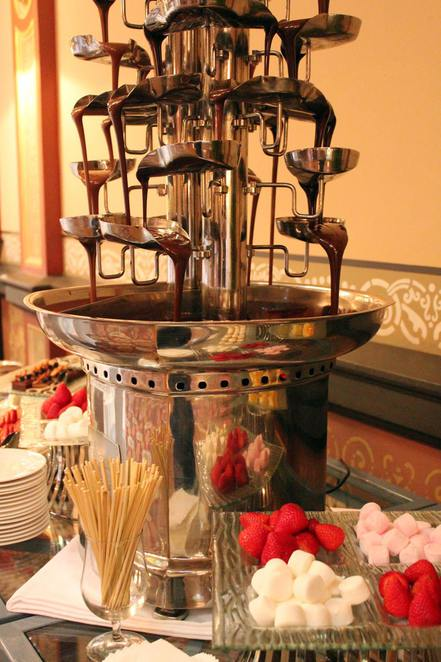 Chocolate Fountain at The Hotel Windsor