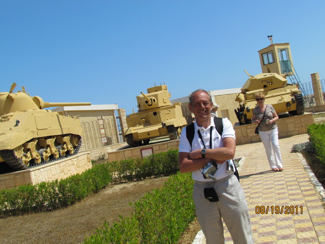 Colin at El Alamein Open Air Museum
