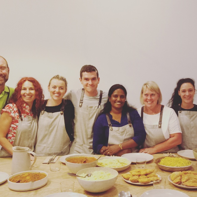 Cooking class, skr lankan food, free to feed, workshop, cooking, cooking with refugees, birthday gift ideas, preston cooking classes,