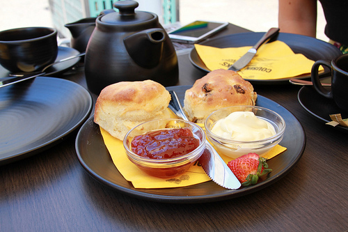 cornish cream tea, cousin jacks scones, cornish scones
