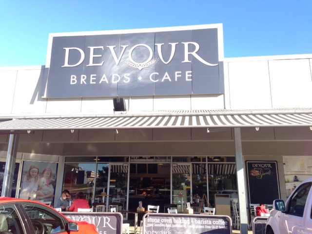 Devour Cafe Front Sign