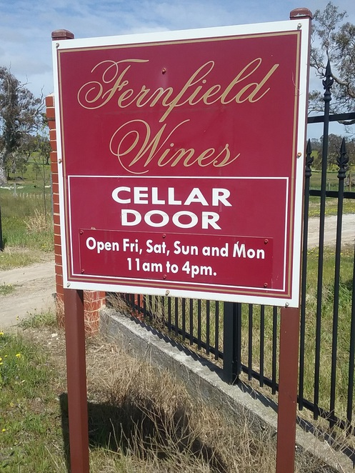 Entrance Sign, Fernfield, Winery, Eden Valley